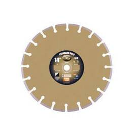 Core Cut 57720 Standard Gold Dry High Speed Diamond Blade, 14 In Blade, Universal, 1/8 In W X 0.394 In D Cutting
