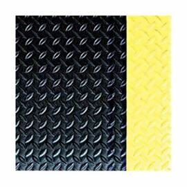 CROWN® CD0035YB 500 STANDARD ANTI-FATIGUE MAT, 5 FT L X 3 FT W X 9/16 IN THK, NON-POROUS EXTRUDED PVC, DECKPLATE SURFACE PATTERN, INDUSTRIAL GRADE PVC FOAM BASE, RESISTS: FLAME, SLIP AND WEAR
