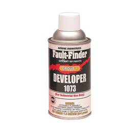 Crown® By Aervoe® 1073 Fault Finder Developer Group I, 12 oz Aerosol Can, Liquid, Milky White, 0.73