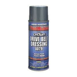 Crown® By Aervoe® 8079 Drive Belt Dressing, 16 oz Aerosol Can, Clear, Hydrocarbon
