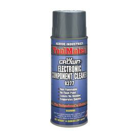 Crown® By Aervoe® 8377 Electronic Component Cleaner, 16 oz Aerosol Can, Gas, Clear