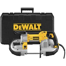 DeWalt® Dwm120K Deep Cut Band Saw Kit, 5 In Round, 5 X 4-3/4 In Rectangular Cutting, 120 Vac, 100 To 350 FPM