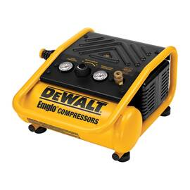 DeWALT® D55140 Oil Free Trim Boss Portable Electric Air Compressor, 1 BSPP, 0.3 Hp, 135 psi, Hot Dog 1 gal Tank