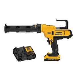 DeWalt® Dce560D1 Full Barrel Frame Cordless Caulk Gun Kit, 10 oz, 20 Vdc, Lithium-Ion Battery