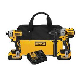 DeWalt® DCK299M2 Xr® Brushless Cordless Combination Kit, Tools: Hammer Drill, Impact Driver, 20 V, 4 Ah Lithium-Ion