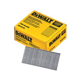 DEWALT® DCS16150 ANGLED STRAIGHT FINISH NAIL, 1-1/2 IN L, 16 GA, GALVANIZED, STAMPED STEEL