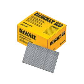 DEWALT® DCS16200 HEAVY DUTY STRAIGHT COLLATED NAIL, 2 IN L, 16 GA, GALVANIZED, STEEL