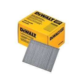 DEWALT® DCS16250 ANGLED STRAIGHT FINISH NAIL, 2-1/2 IN L, 16 GA, GALVANIZED, STAMPED STEEL
