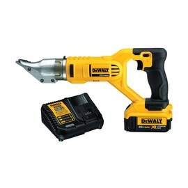 DeWalt® 20V Max* Dcs491M2 Double Cut Cordless Swivel Head Shear Kit, 18 Ga Mild Steel, 20 Ga Stainless Steel Cutting, 0 To 2450 SPM, Pistol Grip Handle, 15-1/2 In OAL, Lithium-Ion Battery