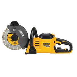 DeWALT® FLEXVOLT® Cut-Off Saw Kit, Brushless Cordless, 9 in Blade, 7/8 in Arbor/Shank, 6600 rpm Speed, 9 hp, 60 VAC, 15 A, Plastic Housing Material, Front Handle, 24-3/4 in L x 6-1/2 in W x 9-57/64 in H