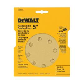 DeWalt® Dw4310 Coated Abrasive Disc, 5 In Dia, 100/Medium, Aluminum Oxide Abrasive, Hook And Loop