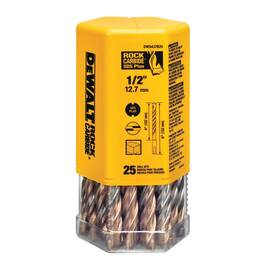DeWalt® Dw5427B25 Hammer Drill Bit, 3/8 In Drill Bit X 6 In L, 4 In Cutting, 25/64 In Sds Plus® Shank, Carbide Cutting Edge, Carbide