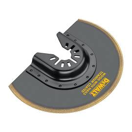 DeWALT® Oscillating Blade, For Use With: All Oscillating Tool, Specifications: 4 in, Titanium, Titanium Coated Finish, Black