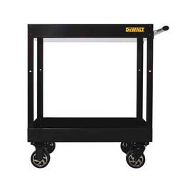 DeWALT® Utility Cart, Basic, 32 in Overall Width, 38 in Overall Height, 500 lb Load, Steel, Black, Ergonomic Handle