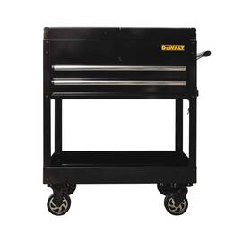 DeWALT® Utility Cart, Sliding Top, 32 in Overall Width, 41 in Overall Height, 500 lb Load, Steel, Black