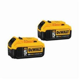 DeWalt® Dcb205-2 Xr® Premium Battery Pack, 5 Ah Lithium-Ion Battery, 20 Vdc, For Use With Entire Line Of DeWalt® 20V Max* Tmax*