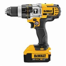 DeWalt® DCD985M2 3-Speed Premium Cordless Hammer Drill Kit, 1/2 In Metal Ratcheting Chuck, 20 Vdc, Lithium-Ion Battery
