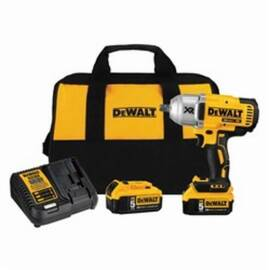 DeWalt® 20V Max* DCF899P2 Xr® Compact Cordless Impact Wrench Kit, 1/2 In Straight Drive, 700 Ft-Lb, 20 Vdc, 8-13/16 In OAL