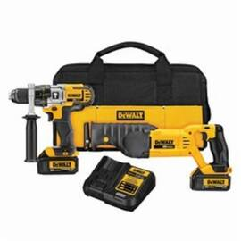 DeWalt® DCK292L2 Cordless Combination Kit, Tools: Hammer Drill, Reciprocating Saw, 20 Vdc, 3 Ah Lithium-Ion, 1/2 In Chuck