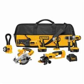 Black+Decker® Xrp™ DCK655X 6-Tool Compact Cordless Combination Kit, Tools: Angle Grinder, Circular Saw, Hammer Drill, Impact Driver, Reciprocating Saw, 18 Vdc, 2.4 Ah Nicd