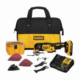 DeWalt® Dcs355D1 Quick-Change Cordless Oscillating Multi-Tool Kit, 20 Vdc, 2 Ah Lithium-Ion Battery, 21000 Opm, Plastic Housing