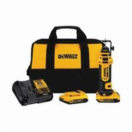 DeWalt® Dcs551D2 Cordless Cut-Out Tool Kit, 2 Ah Lithium-Ion Battery, 20 Vdc, 1/4 In, 1/8 In Collet