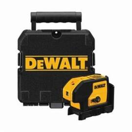 DeWalt® DW083K Electronic Self-Leveling Rotary Laser Level Kit, 100 Ft, +/-1/4 In At 100 Ft, +/-4 Deg Auto Leveling, 3 Beams