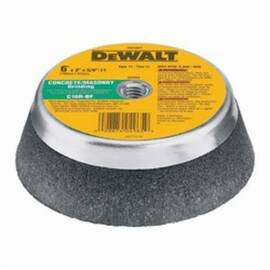 DeWalt® Hp™ Dw4965 Flaring Cup Wheel, 6 In Dia X 2 In Thk, 5/8-11, C16R Grit, Aluminum Oxide/Silicon Carbide Abrasive