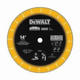 DeWalt® Diamond Edge™ Dw8500 Segmented Rim Diamond Saw Blade, 14 In Blade, 1 In, 5 In D Cutting, Dry Cutting