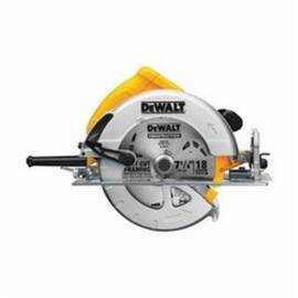 DeWalt® DWE575 Lightweight Next Generation Circular Saw, 7-1/4 In Dia Blade, 5/8 In, 1-7/8 In At 45 Deg, 2-9/16 In 90 Deg Cutting, Metal/Plastic Housing