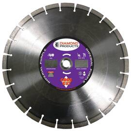 Core Cut 78976 Imperial Purple Dry High Speed Segmented Diamond Blade, 14 In Blade, Universal, 1/8 In W X 0.394 In D Cutting
