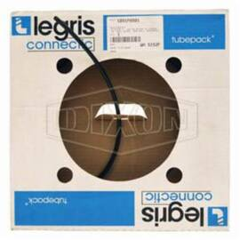 Legris by Dixon® Tubing, Semi-Rigid, 0.093 in Inside Dia, 1/8 in Outside Dia, 50 ft Length, 0.016 in Wall Thickness, 250 psi Working, -65 to 200 deg F, Nylon, Black, Domestic