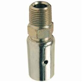 Dixon® Male Coupling, Uni-Range, Series: Holedall , Fitting/Connector Type: Coupling, 1/2 in ID x 62/64 to 1-2/64 in OD Nominal, MNPT, 3-7/64 in Length, Carbon Steel, Plated, 1-3/16 in H, Domestic/Import: Domestic