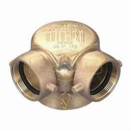 Dixon® Single Clapper Bottom Outlet, 4 x 2-1/2 x 2-1/2 in, FNPT x Female NST Connection, Cast Brass, Import