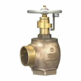 Dixon® Pressure Restricting Angle Valve, Adjustable Global, 1-1/2 x 1-1/2 in Nominal, FNPT x MNST (NH) End Style, 175 psi Pressure, Cast Brass Body, Domestic Domestic/Import