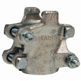 Dixon® 4-Bolt Clamp, Series: Boss , 2-12/64 to 2-24/64 in Nominal, 4-3/32 in Length, 3-25/32 in Width, 40 ft-lb, Iron Band, Zinc Plated, Domestic