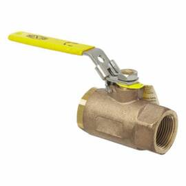 Dixon® Ball Valve, 1-1/4 in Nominal, FNPT End Style, 600 psi WOG, 150 psi WSP Pressure, Standard Port, Media: Water, Oil, Gas and Steam, Locking Handle Actuator, Chrome Plated Brass Ball, Brass Body, RPTFE Softgoods, Bronze Finish, 3-1/4 in L x 6-15/16 i