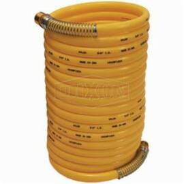 Dixon® Cc3850 Coil-Chief Self-Storing Air Hose, 3/8 In, MNPT, 50 Ft L, 165 Psi, Nylon, Domestic