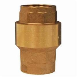 Dixon® Check Valve, Spring Loaded, 3/4 in Nominal Size, FNPT, 400 psi, 10 to 210 deg F, Media: Gas/Oil/Water, Brass Body, NBR Seat, Import