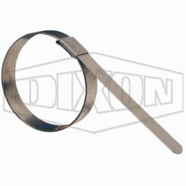Dixon® F8 F Series Center Punch Pre-Formed Band Clamp, 2 In Id X 0.031 In Thk, Steel, Domestic