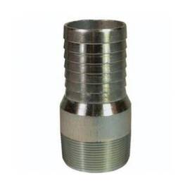 Dixon® The Right Connection  King Combination Nipple, Series: Global King , 2-13/32 in x 2-11-1/2 Nominal, Global Hose Shank x MNPT, 4-11/16 in Length, Carbon Steel, Zinc Plated, Domestic