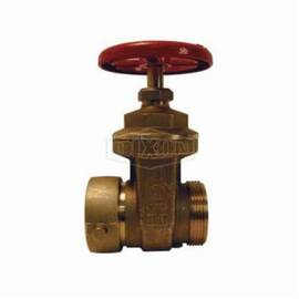 Dixon® Hydrant Gate Valve, Single, 2-1/2 in Nominal, Female NST (NH) x Male NST (NH), 300 psi Pressure Rating, Brass Body