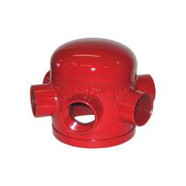 Dixon® Pump Test Header, Grooved, For Use With: FDC Pump, 8 in, (6) 2-1/2 in FNPT Outlet, Steel, Red