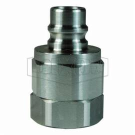 Snap-Tite by Dixon® Valve Plug, Interchange, Series: H/IH, 1-1/4-11-1/2 Nominal Size, FNPT, 2 in Hex, 3.41 in Length, 1500 psi, -40 to 250 deg F, 316 Stainless Steel, 2.19 in OD, Domestic