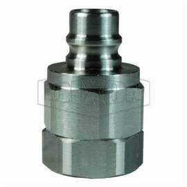 Snap-Tite by Dixon® Valve Plug, Interchange, Series: H/IH, 1/2-14 Nominal Size, FNPT, 1-3/16 in Hex, 1.99 in Length, 3750 psi, -40 to 250 deg F, 316 Stainless Steel, 1.31 in OD, Domestic