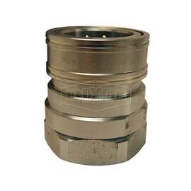 Snap-Tite by Dixon® Quick Connect Coupling, Interchange Valved, Series: H Series, 1-1/2-11-1/2 Nominal, FNPT, 1500 psi, Steel, Domestic
