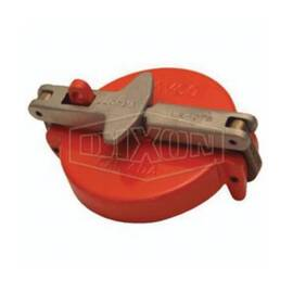 Dixon® Tank Truck Cap, Vapor, Fitting/Connector Type: Cap, 4 in Nominal Size, Aluminum, Orange, Domestic