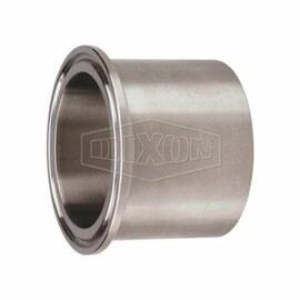 Dixon® 14Mpw-R150 Heavy-Duty Tank Ferrule, 1-1/2 In, Clamp, 316L Stainless Steel, Domestic