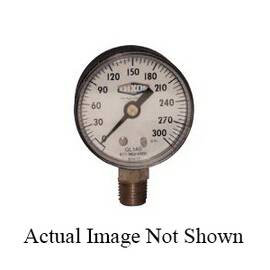 Dixon® Gl330 Standard Dry Gauge, 0 To 100 Psi, 1/4 In Lower Connection, 2-1/2 In Dial, +/-3-2-3%
