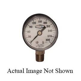 Dixon® Gl130 Standard Dry Gauge, 0 To 160 Psi, 1/4 In Lower Connection, 2 In Dial, +/-3-2-3%